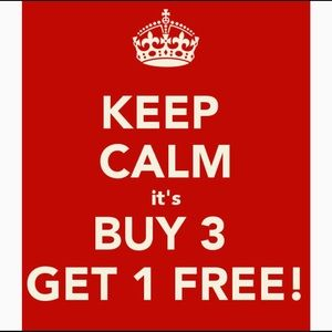 Other - Buy 3 items of equal or lesser value,get one free